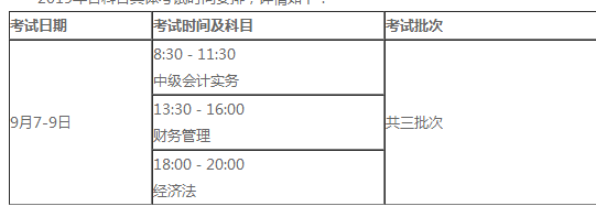 考试时间安排