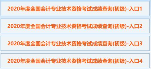 2020年广西初级会计师成绩查询入口