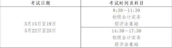 【通知】2021年张家界初级会计考试时间安排