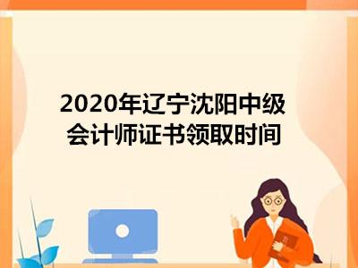 2020年辽宁沈阳中级会计师证书领取时间