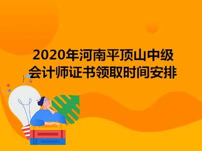 2020年河南平顶山中级会计师证书领取时间安排