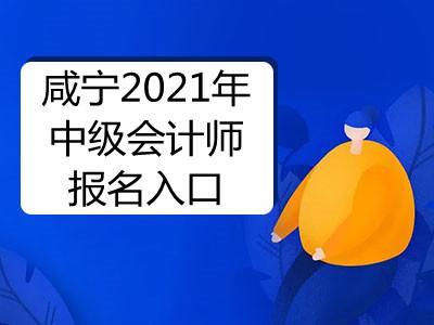 咸宁2021年中级会计师报名入口即将开通